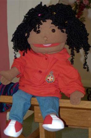 Puppet in Girls Brigade uniform