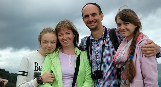 Oleksandr and family