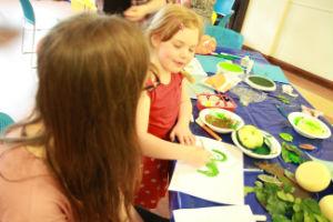 Child leaf printing