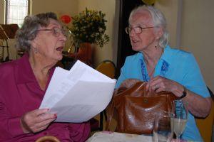 Elaine Price and June Hodgson