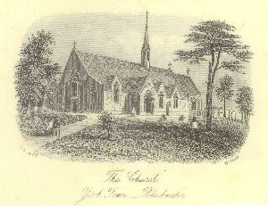 St. Michael's Church - a 19th century drawing