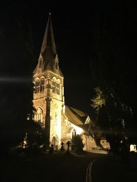 St Michael's Church Spire Lit up