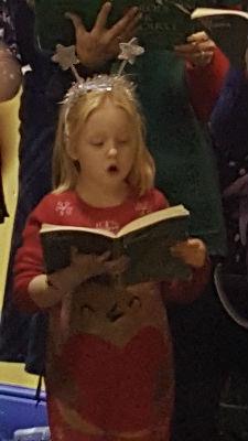 Sophie S carol singing dec 2016