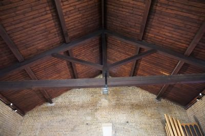 Cleaned ropof beams & timber front view