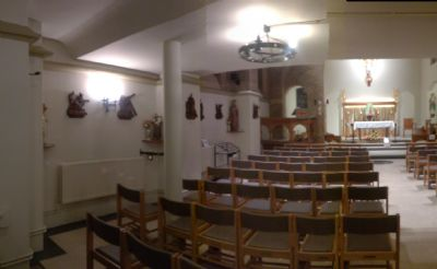 new refurbished image of church seats
