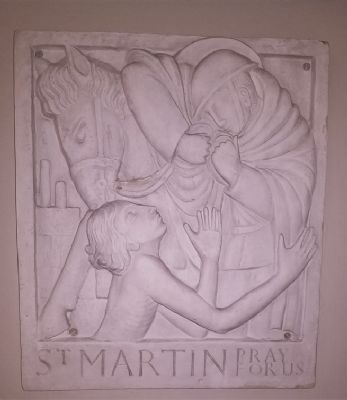 St Martin of Tours SSJ bias plaster relief