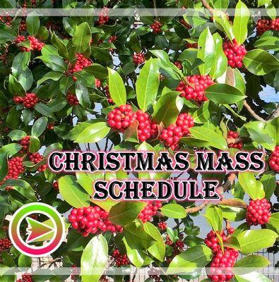 Christams Mass Schedule