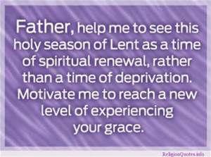 Lent words of encouragement