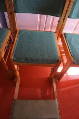 Old chair and kneeler