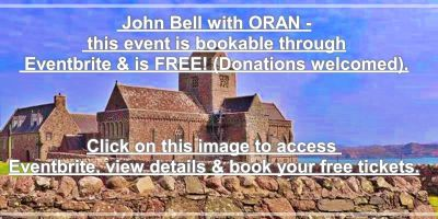 John Bell Eventbrite Iona fundraise Nov 13th 2019
