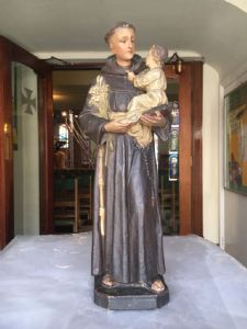 St. Anthony of Padua - Before Cleaning Foot