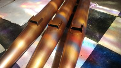 Cleaned organ pipes