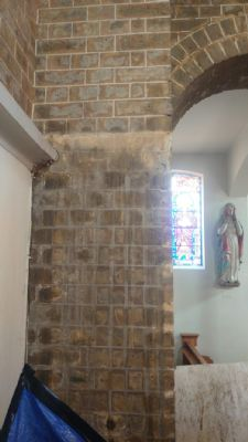Washed brickwork