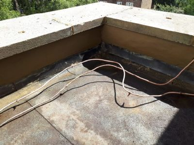 Mortar and lead flashing repaired