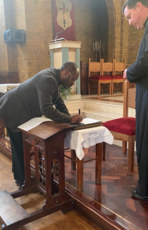 Fr. Gregory made the Profession of Faith and took the Oath of Fidelity on the 11th of November, 2020 before Fr. Marcus Holden, Dean of Lambeth Deanery. This is required for him to validly fulfil the r