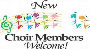 New Choir Members Welcome