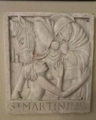 St. martin bas plaster relief