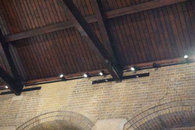 new spotlights & brickwork