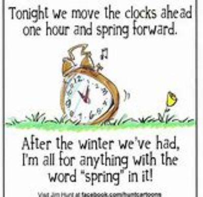 Spring clocks go one hour forwards