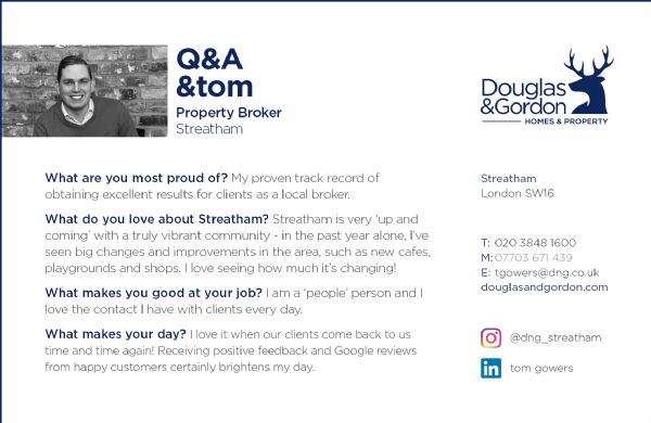 Tom Gowers at Douglas & Gordon Brokers