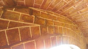 Cleaned brick arch