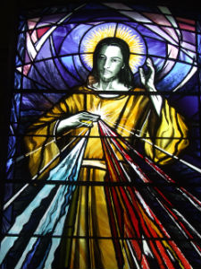 stained glass Jesus