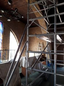 Refurbishment gallery scaffold