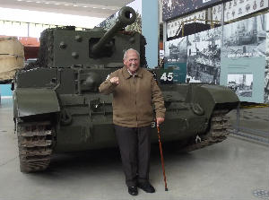 Denis with his Cromwell tank