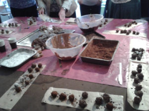 The finished truffles