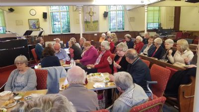 Fellowship at Communion Meal