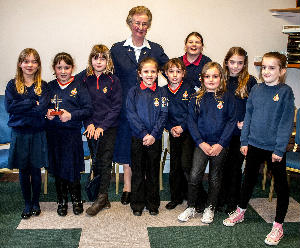 Beverley with the Girls Brigade