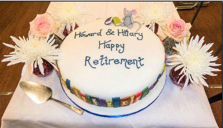 Howard  Hilarys Rettirement Cake