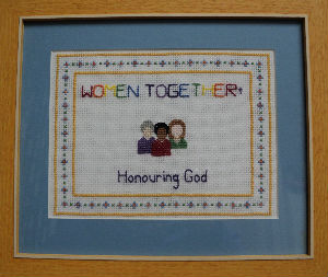 women together cross-stitch