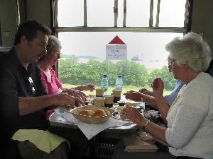 Cream tea on the train