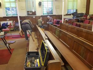 Removal of Pews 1