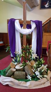 Cross on Easter Sunday
