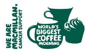 MacMillan Biggest Coffee Mornign LOgo