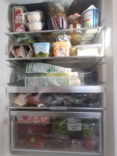 Well-stocked fridge