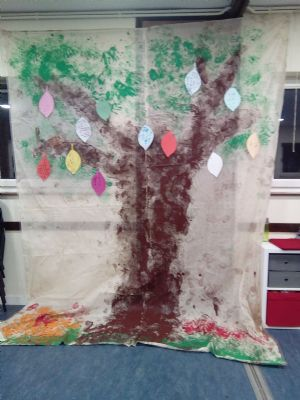 Foot and handprint tree