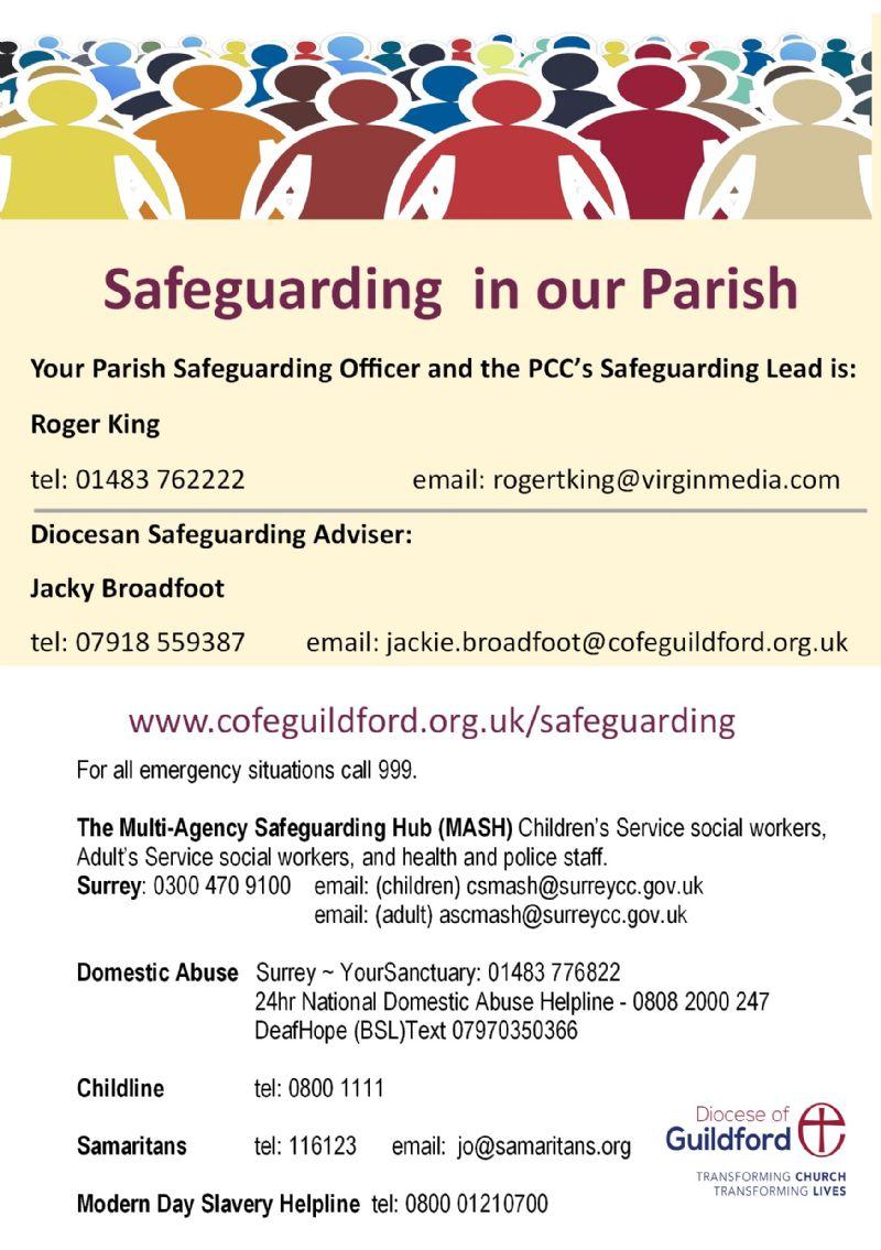 Safeguarding in our parish