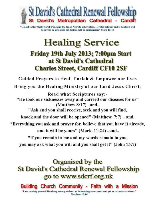 Healing Service Poster - July 2013