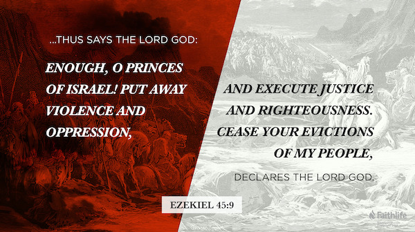 Ezekiel 45 : 9