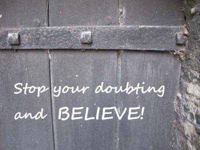 Door stop doubting