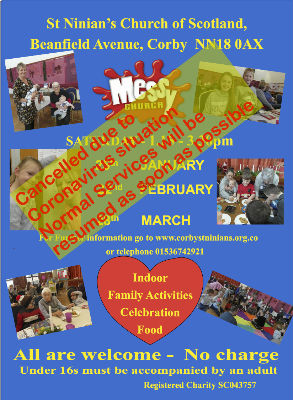 Messy Church cancelled for a while