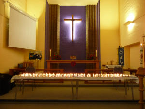 Bereavement Service candles