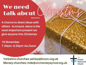 Christmas ideas event flyer