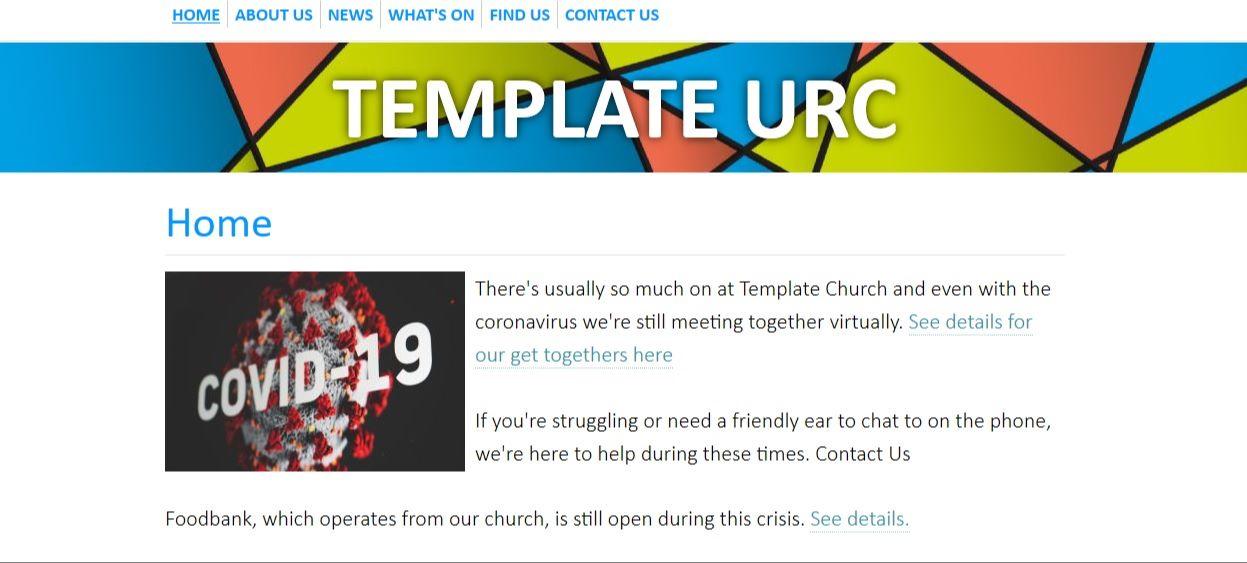 Template web image