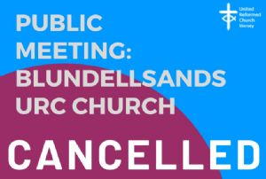 Cancelled meeting poster