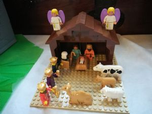 Lego nativity scene