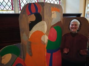 Janet in one of the Nativity scenes